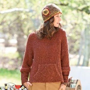 SUNDANCE Fireside pullover pumpkin spice sweater M